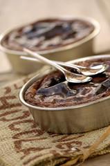 Chocolate custard cakes
