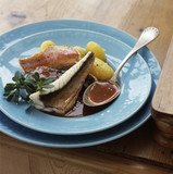 Roast gurnard with Bouillabaisse sauce