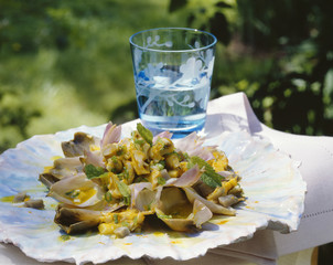 Artichokes with whelks and confit citrus