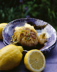 Veal Paupiettes with lemon