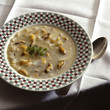 Creamy mussel and haddock chowder