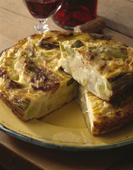 Leek and Ventreche Clafoutis