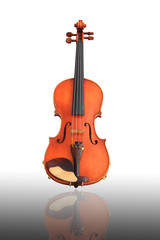 violin over white background,close-up .