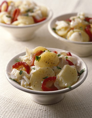 Fish,pepper and potato salad