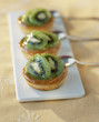 Kiwi and orange blossom tartlets