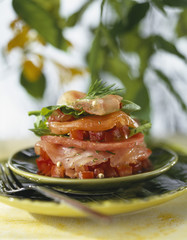 Raw fish Mille-feuille