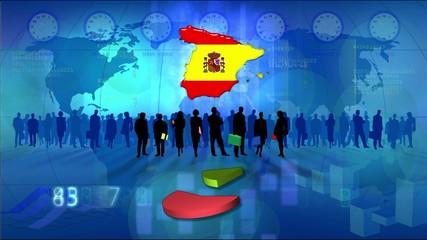 Work team Spain, statistics blue