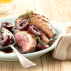 Duck Magret with cherries
