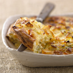 Haddock and leek Clafoutis