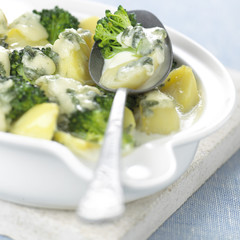 Broccoli and potato gratin