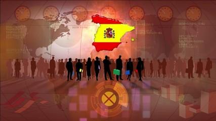 Work team Spain, maroon