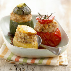 Small stuffed vegetables