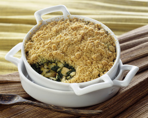 Chicken and spinach crumble