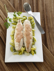 mackerels with leek fondu