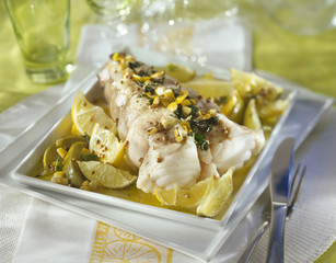 Monkfish with lemon and lime