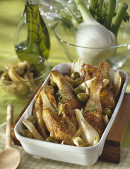 roast chicken with fennel and green olives