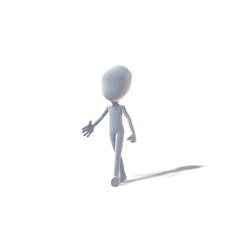 Guten Tag, Hand, 3D-Figur