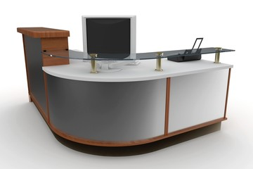 3d furniture office space