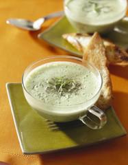 Sorrel creamy soup