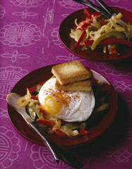 Poached egg with Piperade