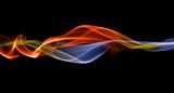 Merging energy streak backdrop poster