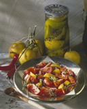 Tomato and confit lemon salad