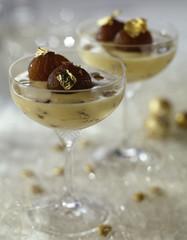 Candied chestnut cream dessert