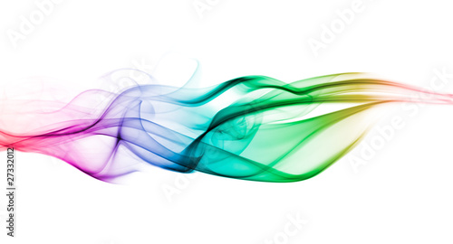 Leinwandbild Motiv Color smoke wave background
