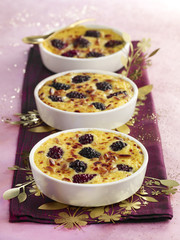 Blackberries gratins