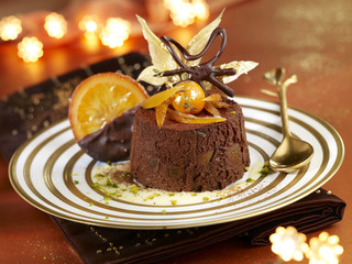 Orange and chocolate Marquise