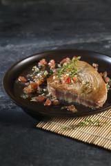Tuna steak with Sauce chien