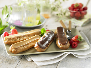 Chocolate and coffee Eclairs
