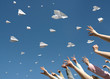 messages fly on paper airplanes - 27334654