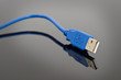 Blue USB cable