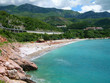 Beach at Budva's riviera, Montenegro
