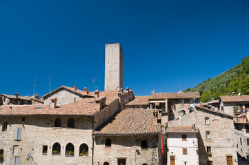 View of Gubbio. Umbria.