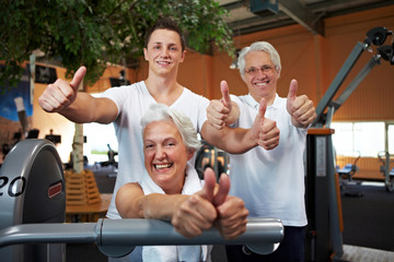 Erfolgreiches Fitness-Team