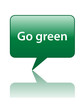 GO GREEN Speech Bubble Icon (environment recycle carbon button)