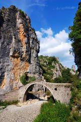 Zagoria stone bridge in Pindus Mountains