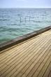 Mer vacances terrasse été ponton plage océan arcachon jetée