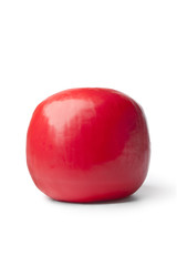 Whole single red Edam cheese