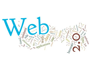 Web 2.0 Word Cloud on white background