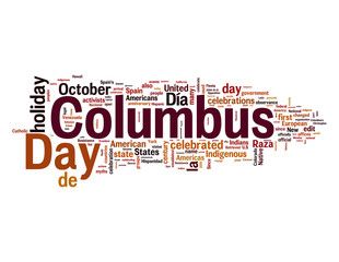Columbus Day Word Cloud