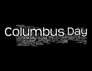 Columbus Day Concepts on BlackBackground