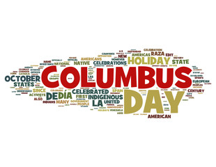 Columbus Day Concepts on White Background