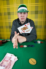 An inveterate cardsharper poker player