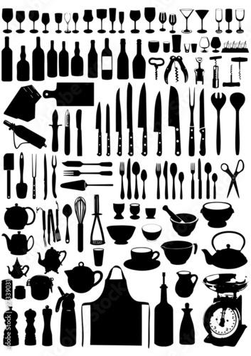 115 éléments pour la cuisine