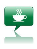 COFFEE BREAK Speech Bubble Icon (cup web button caffeine addict) poster