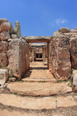 Hagar Qim, ancient Megalithic Temple of Malta, unesco