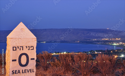 sea of galilee at night